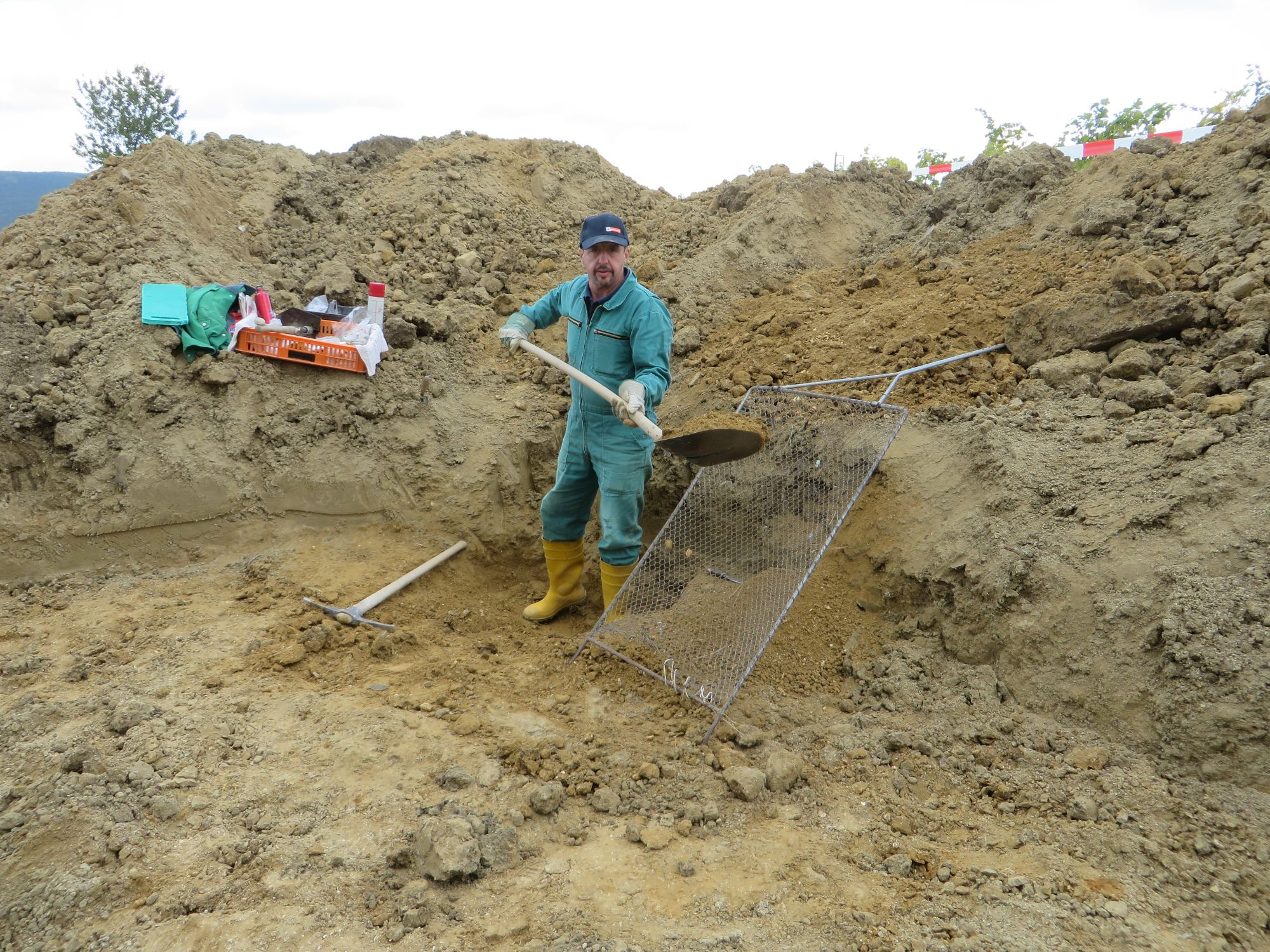 Grabung Gainfarn 2019, Grabungsbeginn (c) Gerhard Wanzenböck